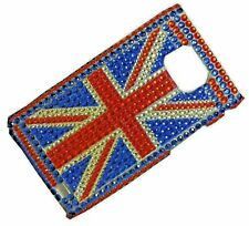 Diamond Union Jack Flag Bling Back Hard Case Cover For Samsung Galaxy S2 i9100
