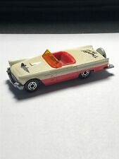 Matchbox 1957 White Ford Thunderbird Convertible —1/64—loose—Very Nice