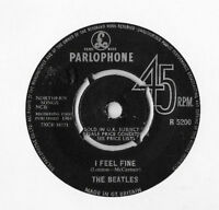 "THE BEATLES * I FEEL FINE * ORIGINAL 7"" SINGLE PARLOPHONE R 5200 PLAYS GREAT"
