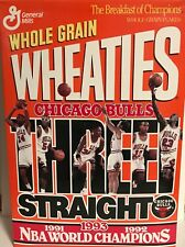 Chicago Bulls Jordan Paxson Pippen Wheaties Box 1993