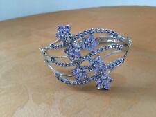 """Natural light violet tanzanite sterling silver 925 bracelet size 7"""""""