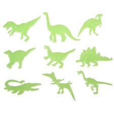 Set Of 9Pcs PVC Glow In The Dark Dinosaur Shape Room Decor Wall Sticker Decal