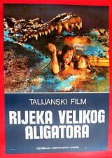 GREAT ALLIGATOR 1979 BARBARA BACH MEL FERRER  CASSINEL MARTINO EXYU MOVIE POSTER