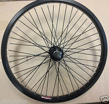 "20"" bmx bike black REAR wheel Alex Y303 48H Alloy 14mm axle"