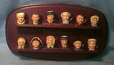 * Royal Doulton - Dickens Collection -12 Tinies w Stand