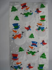 SET OF 20 CHRISTMAS CELLOPHANE, GIFT BAGS/PARTY BAGS AND TIES 29CMS X 12.5 CMS