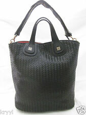 NWT GIVENCHY Woven Nightingale Shopper Tote Shoulder Bag  $2670 Black