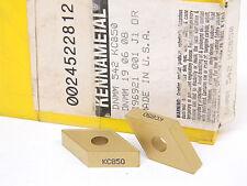 NEW 5PCS. KENNAMETAL DNMM 542  GRADE: KC850 CARBIDE INSERTS
