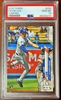2020 Topps GAVIN LUX PSA 10 SP Gem Mint Rookie RC Dodgers #292 Jumping Variation