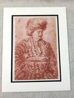 Antique Imprimé Antoine Watteau Vie Étude Portrait Original 19th Siècle Litho