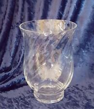 Glass Swirl Hurricane Pillar Candle Holder 8""