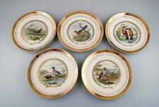 Royal Copenhagen. Set of five large dinner / decoration plates. Dated 1960