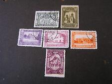 SPAIN, SCOTT # 433+436+438+441+444+446(6),1930 SPANISH-AMERICAN UNION ISSUE USED