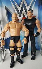 WWE MATTEL BASIC SERIES BATTLE PACK STONE COLD AND VINCE MCMAHON SET OF TWO