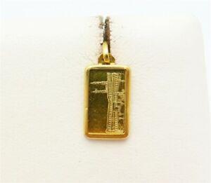 1 Gram Fine Gold 999.9 Suisse Pendant