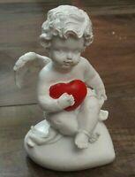 Baby Angel Figurine Cherub Statue With Heart Indoor Outdoor Garden Decor Resin