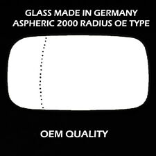Volvo V50 Wing Mirror Glass - Silver,Aspheric,LH(Passenger Side), 2004 to 2006
