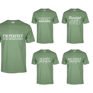 OLIVE T-SHIRT 100% COTTON WITH MOTIVATIONAL QUOTES PERFECT AND AMAZING