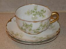 HAVILAND CHINA SCHLEIGER 61L PATTERN 1 CUP 2 SAUCERS 3 PCS TOTAL