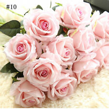 Hot Artificial Fake Rose Flannel Flower Bridal Wedding Supplies Party Home Decor