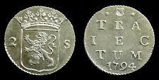 Netherlands / Utrecht - Dubbele Wapenstuiver 1794 met Kabelrand ~ CNM 2.43.140