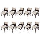 Set of 10 Concha Brazilian Jacaranda Dining Chairs
