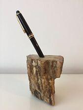 großes Stück versteinertes Holz - als Stift-Halter - tolle Strucktur - Fossil