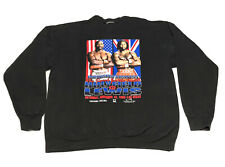 1999 Vtg Boxing Sweater Lennox Lewis vs Evander Holyfield Unfinished Business XL