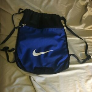 Nike Gym Bag Blue Swoosh Logo