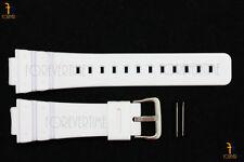 16mm Fits CASIO DW-6900 G-Shock White Rubber Watch BAND Strap DW-6600 w/ 2 Pins