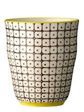 Bloomingville CARLA Taza Marrón Blanco Patrón Taza de cerámica 9,5 cm