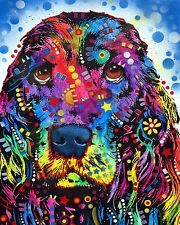 Cocker Spaniel Dean Russo Animal Contemporary Dog Print Poster 8x10