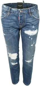 Women's Dsquared Jeans Cool Girl Cropped Washed Blue  IT 44 D38 NEU*75609-005