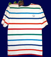 Paul & Shark Yachting AUTHENTIC Men Italy Cotton Striped T-Shirt Size L $185