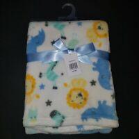 NEW Cutie Pie Lion Zebra Giraffe Rhino Fleece Blanket Lovey Baby Boy Girl Gift
