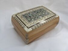 """Egyptian Inlaid Mother of Pearl Jewelry Box 5"""" X 3.5""""  #435"""