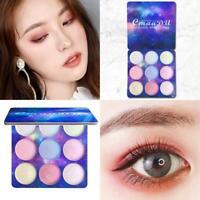 Lidschatten Eye Shadow Palette Matte Glitter Makeup-Shimmer Textmarker V4X5