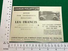 Lea-Francis Utility Car 1949 advert woodie woody estate car shooting brake