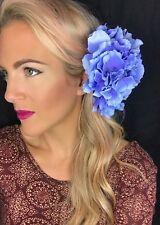 Big Blue Hydrangea Flower Corsage Hair Clip Choochie Choo Bride Bridal Wedding