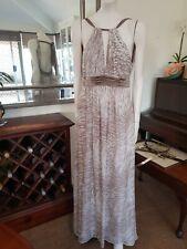 BCBG MAXAZRIA Silk Low Back Silver Metalic Thread Gown sz6,fits 8(my size)As new