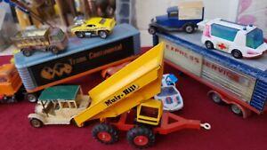 Vintage Diecast Joblot Corgi Matchbox Tonka Mac Truck -Trailors Cars No Reserve