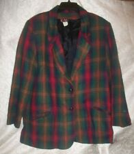 Nice Red/Green/Blue/Brown Blazer Sz 14 By CAC