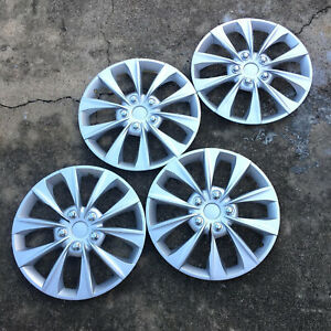 "FULL 4 PC Set Hub Cap ABS Silver 16"" Inch Rim Wheel Skin Cover Caps Covers"