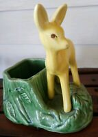 Vtg Ceramic Planter Deer Fawn SHAWNEE  Woodland Decor Nursery USA