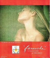 Publicité Advertising 037  1975  Farouche parfum Nina Ricci D Hamiton