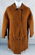 Betty Rose 1960's Montoro Suede Soft Deep Harvest Orange Brown Lined Coat VTG