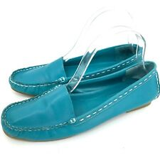 New listing Vintage Westies loafers flats turquoise white stitching 7M