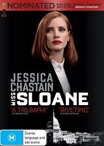 Miss Sloane (DVD, 2017) Australian Stock