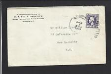 QUOQUE, NEW YORK 1919 3CT WAR RATE COVER ADVT H.T. & S.H. PHILLIPS PAINTERS.