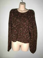 TOPSHOP Chunky Pullover Yarn Sweater Burgundy/pink 8-10 M super soft NWOT